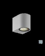 Απλίκα IP44 Μονόφωτη 1*GU10 Αλουμίνιο Γκρι Viokef Tilos 4099702