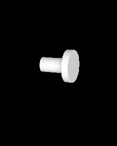 Άγκιστρο Μονό Επίτοιχο Λευκό Ματ Verdi Lamda White Matt 3010201