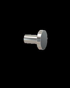 Άγκιστρο Μονό Επίτοιχο Νίκελ Ματ Verdi Lamda Nickel Matt 3010278