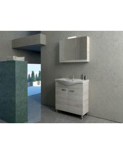 Έπιπλο Μπάνιου Σετ 100 εκ. Βάση-Νιπτήρας-Καθρέπτης-Φωτιστικό Savvopoulos Cronos I