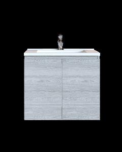 Έπιπλο Μπάνιου 100 εκ. με Νιπτήρα Χρώμα Canyon Greyish Sanitec Alba A 100