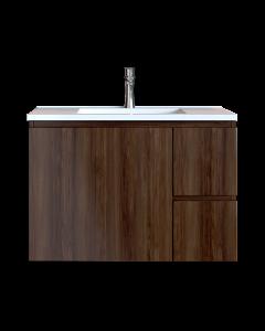 Έπιπλο Μπάνιου 100 εκ. με Νιπτήρα Χρώμα Noce Lirico Natural Sanitec Alba C 100
