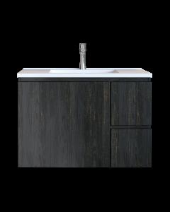 Έπιπλο Μπάνιου 100 εκ. με Νιπτήρα Χρώμα Pine Dark Natural Sanitec Alba C 100