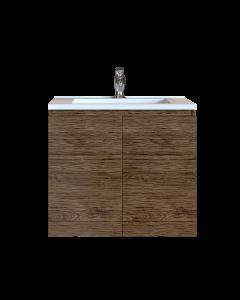 Έπιπλο Μπάνιου 80 εκ. με Νιπτήρα Χρώμα Anziano Natural Sanitec Alba A 80