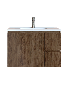 Έπιπλο Μπάνιου 80 εκ. με Νιπτήρα Χρώμα Anziano Natural Sanitec Alba C 80