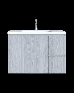 Έπιπλο Μπάνιου 80 εκ. με Νιπτήρα Χρώμα Canyon Greyish Sanitec Alba C 80
