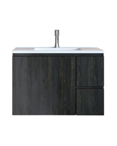 Έπιπλο Μπάνιου 80 εκ. με Νιπτήρα Χρώμα Pine Dark Sanitec Alba C 80