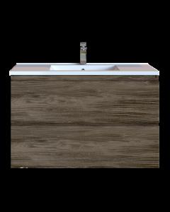 Έπιπλο Μπάνιου 90 εκ. με Νιπτήρα Χρώμα Anziano Grey Sanitec Alba D 90