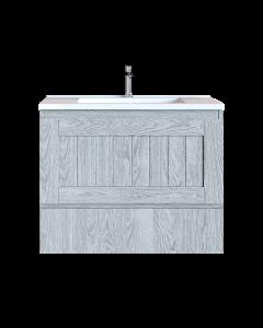Έπιπλο Μπάνιου 90 εκ. με Νιπτήρα Χρώμα Canyon Greyish Sanitec Alba B 90