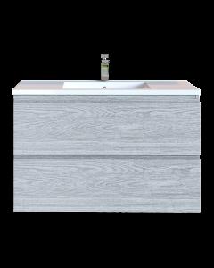 Έπιπλο Μπάνιου 90 εκ. με Νιπτήρα Χρώμα Canyon Greyish Sanitec Alba D 90