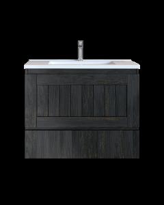 Έπιπλο Μπάνιου 90 εκ. με Νιπτήρα Χρώμα Pine Dark Sanitec Alba B 90