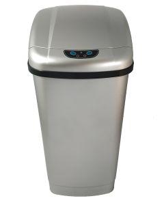Αυτόματος Κάδος με φωτοκύτταρο 23 lt, 26*33*52,50 cm  Πλαστικό Ασημί Favorite Plastic Dolphin EAD101123FPS