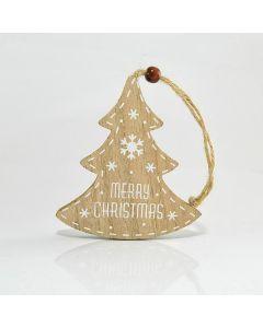 Δεντράκι Ξύλινο Κρεμαστό 8,8*0,8*10 εκ. Magic Christmas by Eurolamp 600-40526