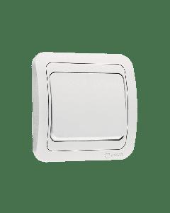 Διακόπτης Τοίχου Μεσαίος  A/R Aller Retur  Χωνευτός  Λευκός Makel Mimoza 12120