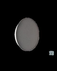 Επίτοιχο Φωτιστικό Led 9w 675lm 3000K Ø30 cm Μέταλλο σε Concrete Warm White Viokef Kyklos 4193802