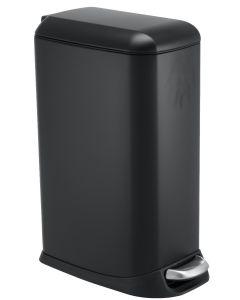 Κάδος Απορριμάτων 20lt Μαύρο Ματ με Πεντάλ Ecocasa Slim 01-9144