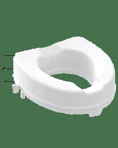 Κάθισμα  Λεκάνης W.C Υπερυψωμένo Ύψος 10cm  Λευκό Polyester 40,5-36,5cm Πλαστικά στηρίγματα  Α.Μ.Ε.Α Elvit AMEA 0205