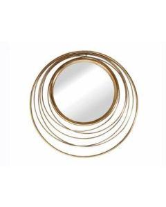 """Καθρέπτης Ø80εκ. """"Κύκλοι"""" Χρυσό Αντικέ Μέταλλο Etoile PT781"""