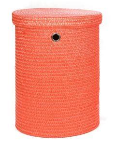 Καλάθι Αποθήκευσης -Απλύτων με καπάκι Μικρό Πορτοκαλί Ø38/36*50 εκ. Sila 4465Μ