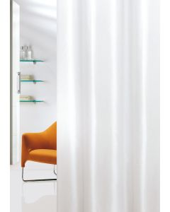 Κουρτίνα Μπάνιου Λευκή 180*200εκ. Υφασμάτινη Polyester Joy Bath Plain 002-00017