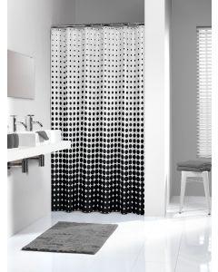 Κουρτίνα Μπάνιου Υφασμάτινη  180*200 εκ.Speckles Black Sealskin 233601319