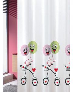 Κουρτίνα Μπάνιου 180*200εκ. Υφασμάτινη Joy Bath Ballons Multi  002-00021