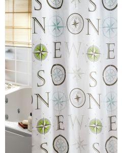 Κουρτίνα Μπάνιου 180*200εκ. Υφασμάτινη Polyester Joy Bath Compass 002-00006