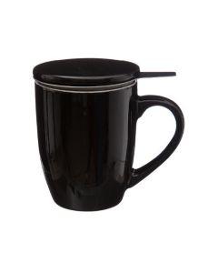 Κούπα Τσαγιού 32cl με Φίλτρο και καπάκι Μαύρη Secret de Gourmet 154002B