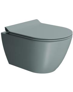 Λεκάνη Κρεμαστή 50 εκ. Κομπλέ με κάλυμμα βακελίτη Slim Soft close Αποσπώμενο Χρώμα Ghiaggio GSI Pura Color Swirl 881600SC-920