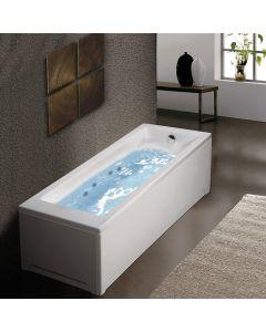 Μπανιέρα Υδρομασάζ Ακρυλική 160*70 εκ. Sirene Cubic CUB16070W