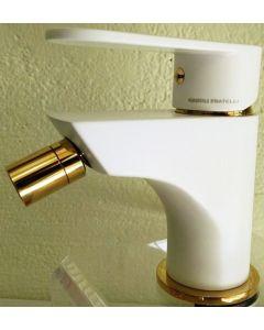 Μπαταρία Μπιντέ Αναμεικτική Λευκό -Χρυσό Gaboli Fratelli Jolie 3805