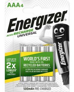 Μπαταρίες Επαναφορτιζόμενες  ΑΑA-HR03 500 mAh Σετ 4 τμχ. Energizer BP4 F016555
