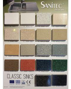 Νεροχύτης Κουζίνας Ένθετος 83*83*50 cm Ερμάριο 90 εκ. Granite Terracotta Sanitec Libra 310