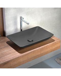 Νιπτήρας Επιτραπέζιος 60*37,7 cm Antracite Matt Bianco Ceramica Rio 38060-421