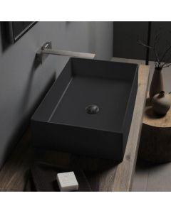 Νιπτήρας Επιτραπέζιος  60*40 εκ.  Μαύρο Ματ Scarabeo Theorema Color 5101-401