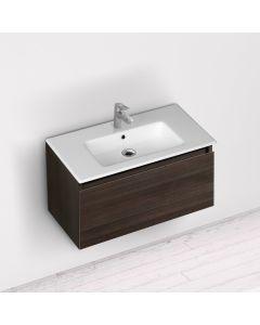 Νιπτήρας Πορσελάνη Λευκός Επικαθήμενος για έπιπλο μπάνιου 71,50*46,5 εκ.  Bianco Ceramica  Flat  36070