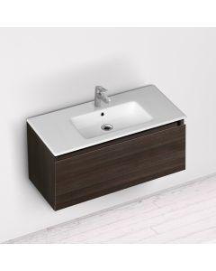 Νιπτήρας Πορσελάνη Λευκός Επικαθήμενος για έπιπλο μπάνιου 91,50*46,5 εκ.  Bianco Ceramica  Flat  36090
