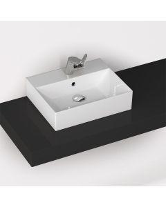 Νιπτήρας Πορσελάνη Λευκός Επιτραπέζιος /Επικαθήμενος/ Κρεμαστός  50*42 εκ.  Bianco Ceramica Tetra N 32050