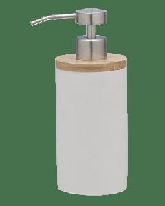 Ντισπένσερ Αντλία Σαπουνιού Λευκό Polyresin with Bamboo Sealskin Grace 361910210