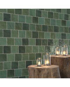Πλακάκι Τοίχου 10*10 εκ. Γυαλιστερό Peronda Ceramicas Riad Glossy Green