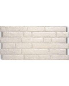Πλακάκι Τουβλάκι Επένδυσης Τοίχου Πορσελανάτο Λευκό 30*60cm Villa Bianco AP30