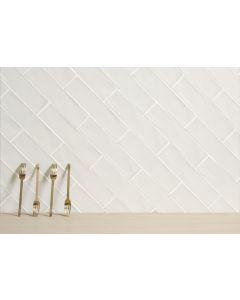 Πλακάκι Τουβλάκι Τοίχου 7,5*30εκ. Peronda Ceramicas Peace White Matt
