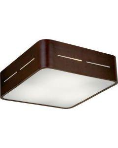 Πλαφόν Οροφής 28*28 εκ. Γυαλί Λευκό σατινάτο / Βάση σε Καφέ Αλουμίνιο Viokef Terry 4104201