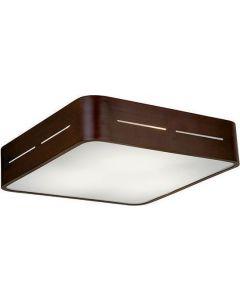 Πλαφόν Οροφής 38*38 εκ. Γυαλί Λευκό σατινάτο / Βάση σε Καφέ Αλουμίνιο Viokef Terry 4104301