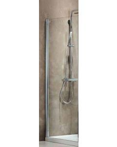 Πλαϊνό Σταθερό 80 εκ. Πόρτας Ντουσιέρας Προφίλ Χρώμιο, 6 χιλ. Κρύσταλλο Clean Glass Ύψος 185 εκ. Axis Side Panel SPX80C-100
