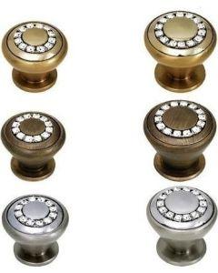 Πομολάκια Επίπλων Ø30 Swarovski Nickel Matt Best 23SW