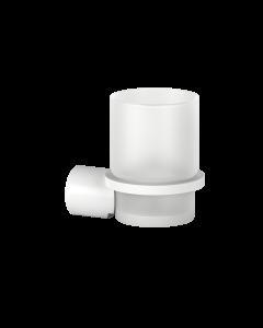 Ποτηροθήκη Επίτοιχη Λευκό Ματ Lamda White Matt 3010501