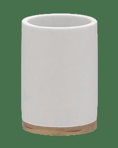 Ποτηροθήκη Λευκό Polyresin with Bamboo Sealskin Grace 361910410
