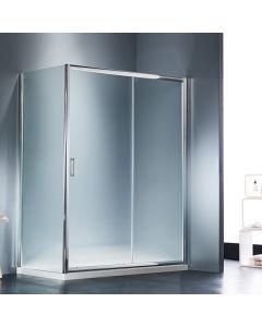 Πόρτα Ντουσιέρας 120εκ. 1 Σταθερό +1 Συρόμενο Starlet Slider Fabric SLS120F-100