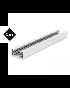 Ράγα 4 Καλωδίων Αλουμινίου Λευκή 2mt για Σποτ, Τροφοδοτικό & Τάπα Τέρμα Tracks EL180321